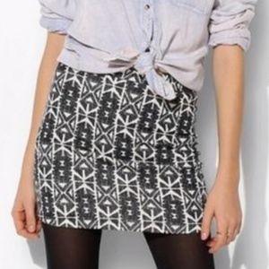 UO Silence + Noise Aztec Print Mini Skirt